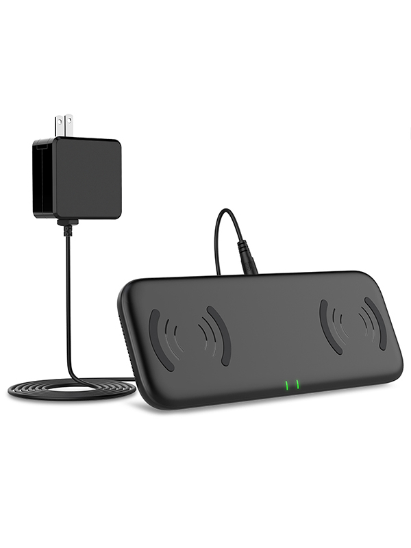 Yootech Dual Fast Wireless Charge Pad 4 Coils with AC Adapter